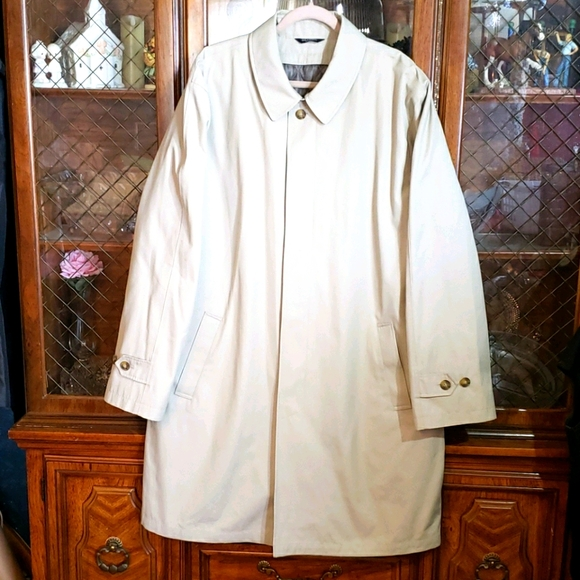 EUC Stafford XL Tall Over Coat Dress Lined Trench